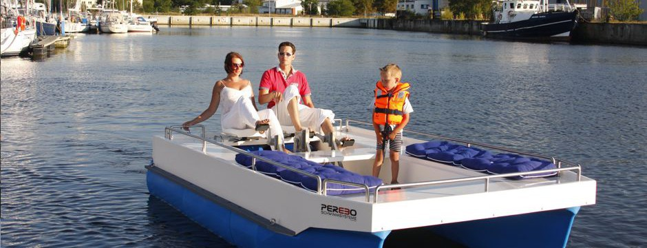 pontoon boat with pedal drive