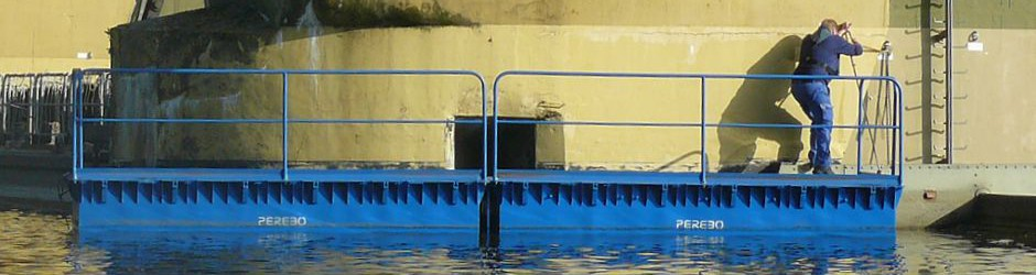 steel coupling pontoons