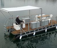 electric pontoon raft