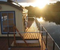 house boat terrace