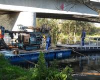 drilling pontoon