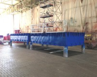 work pontoons PSK-20 in production hall