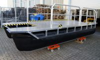work boat with basic equipment