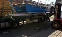 shipment of the work boat including boat trailer