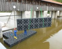 assembly of a special work pontoon