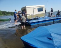 cargo pontoon with access ramp