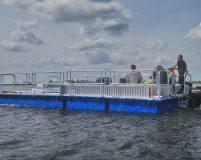 drivable working pontoon