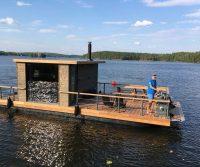 sauna on a boat