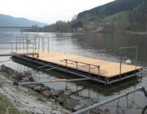 Schwimmplattform stationär