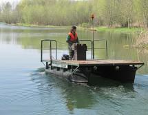 Pontonboot für Gewässerschutz