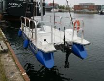 Arbeitsboot kranen