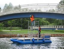 Arbeitsponton für Brückenprüfung