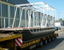 Transport Bootsbausatz mit Hausgestell