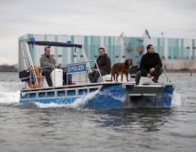 Einsatzboot der Polizei