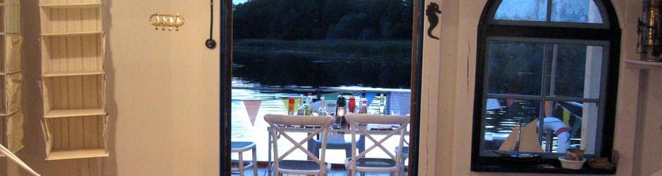 Hausboot Terrasse