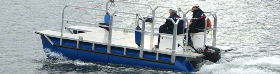 Arbeitsboot Fahrzustand