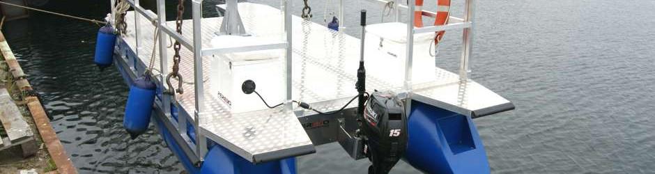 Kranen Arbeitsboot