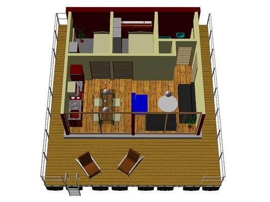 Hausboot PH-30 Raumaufteilung