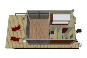 Standard-Raumaufteilung Hausboot PH20