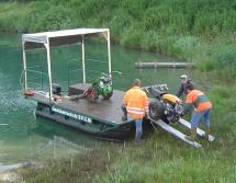 Arbeitsboot Gewässerpflege