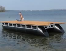 fahrbare Badeplattform