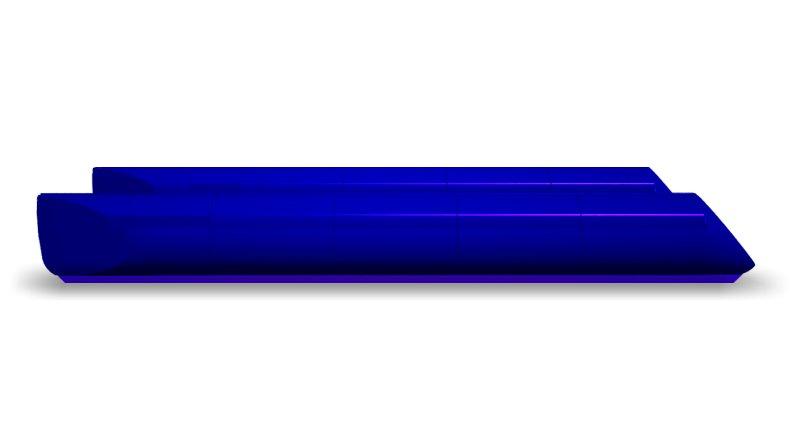 blue pontoons