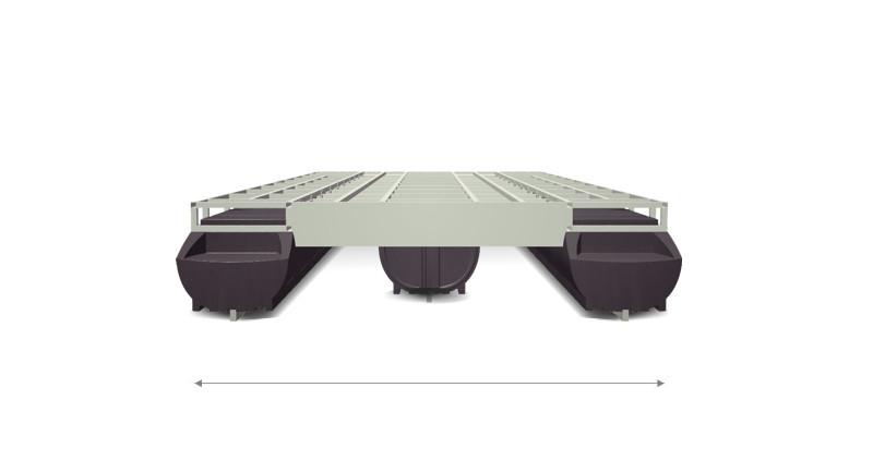 width Perebo Pontoonboat