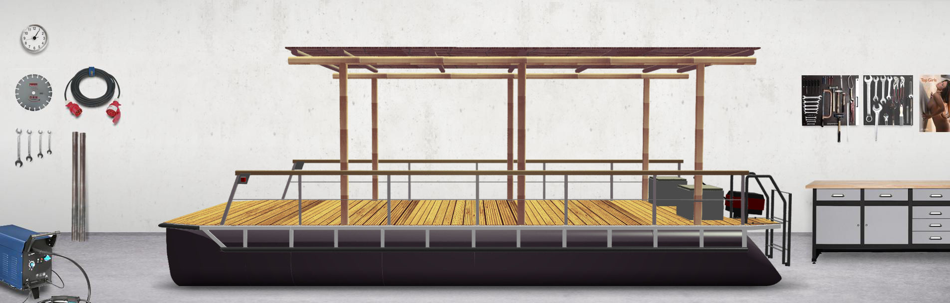 perebo schwimmsysteme perebo konfiguratoren boote und. Black Bedroom Furniture Sets. Home Design Ideas