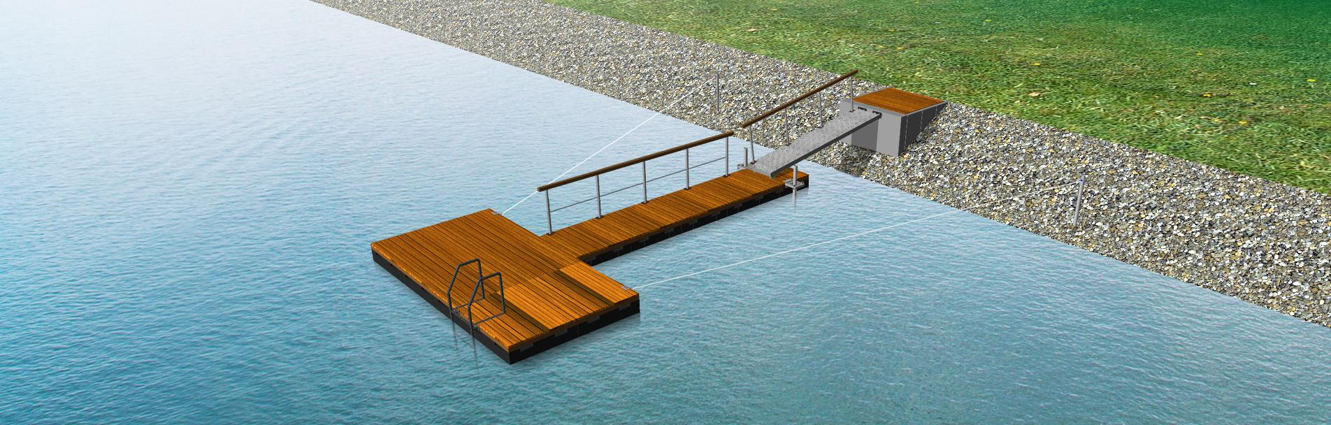 Schwimmsteg & Schwimmplattform Bausatz