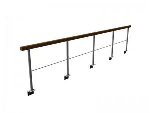 Standardgeländer mit Holzhandlauf