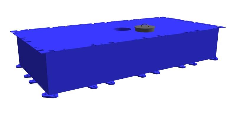 Stahlkoppelponton-PSK-10 Mittelteil mit Durchgangsloch
