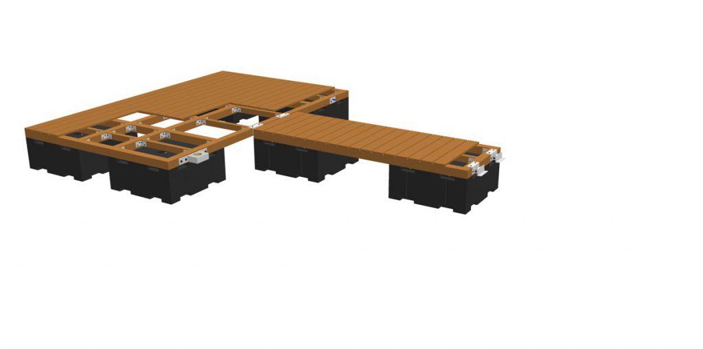 Aufschrauben des Gehbelags (z.B. Holz- oder Kunststoffdielung)
