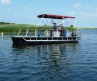 Pontonboot mit Sonnenverdeck