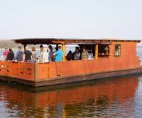 Holz-Hausboot