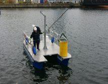 Pontonarbeitsboot mit Davit