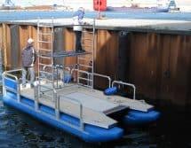 Gerüstpontonboot